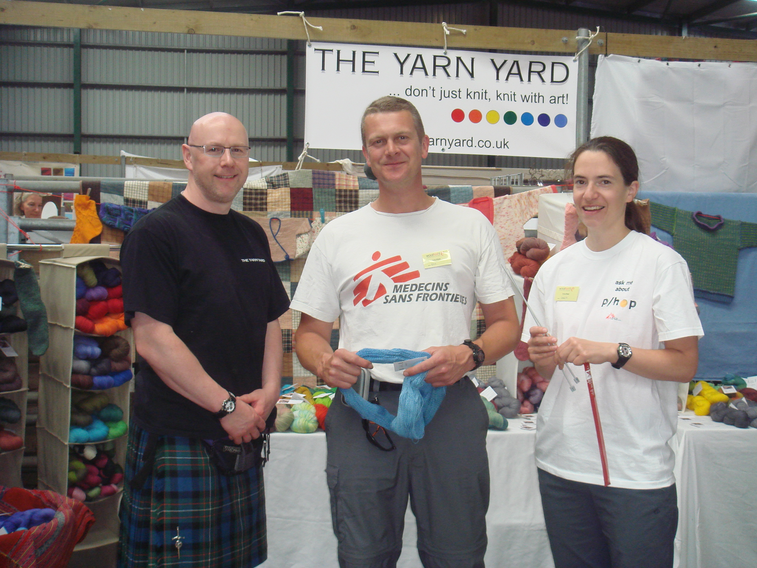 Gavin, Ray and Sonja at Yarn Yard Stall