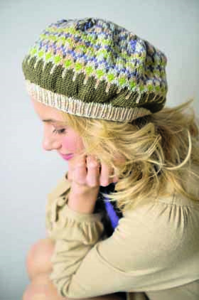 Spring Beret Knitting Pattern : Chic Spring Beret   pennies per hour of pleasure