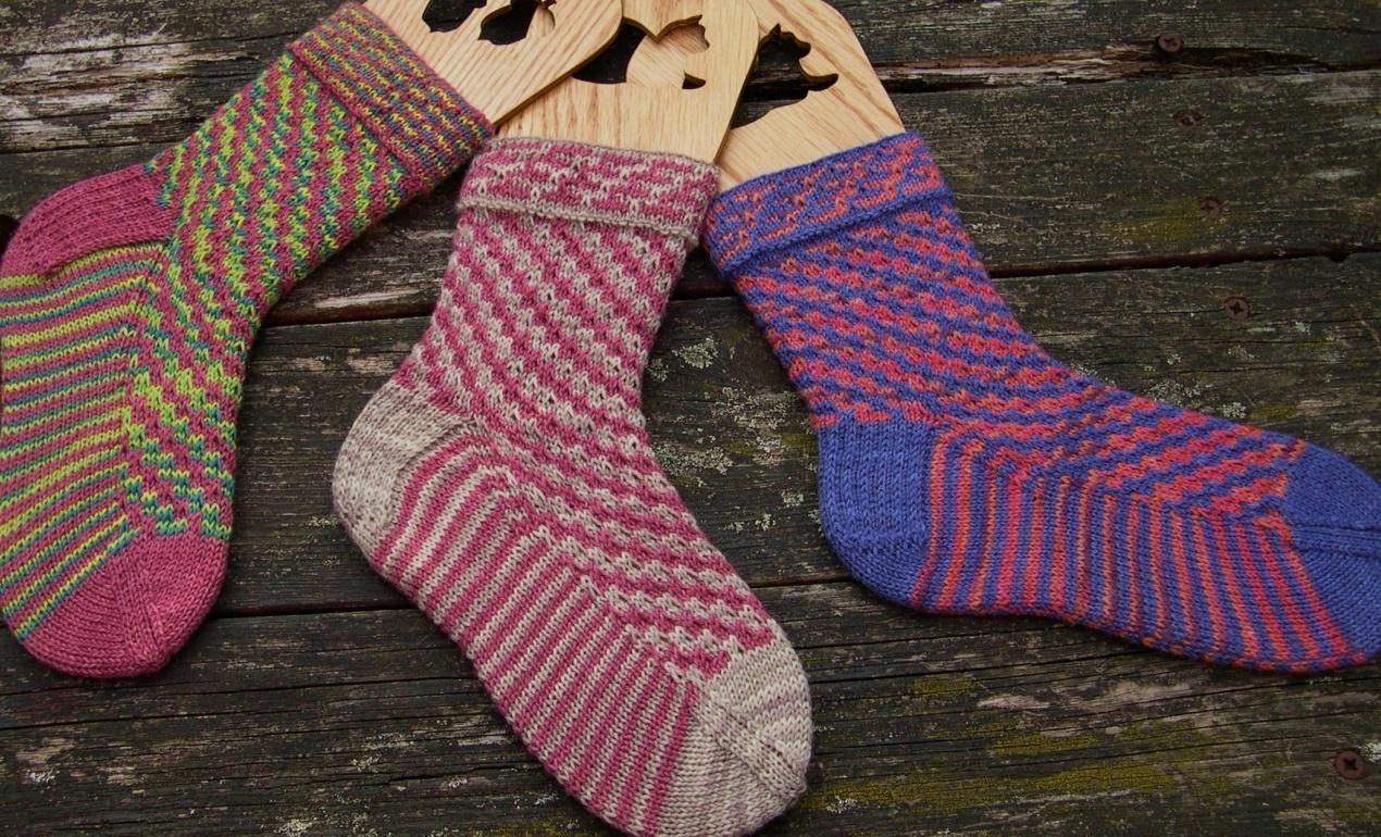 Spiral socks by Jane Lithgow