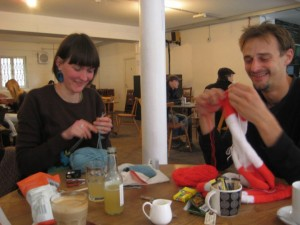 Pete and Rachael at Stitch Mark East
