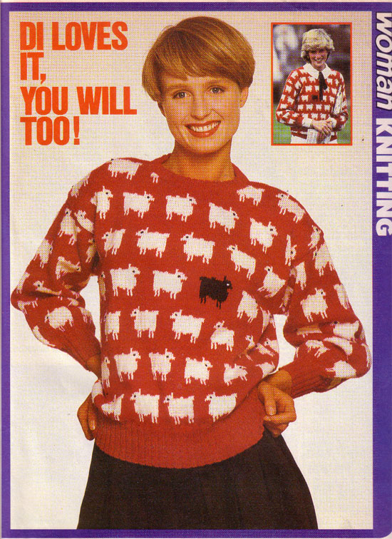 Yours Magazine Knitting Patterns : Diana Black Sheep Sweater   pennies per hour of pleasure