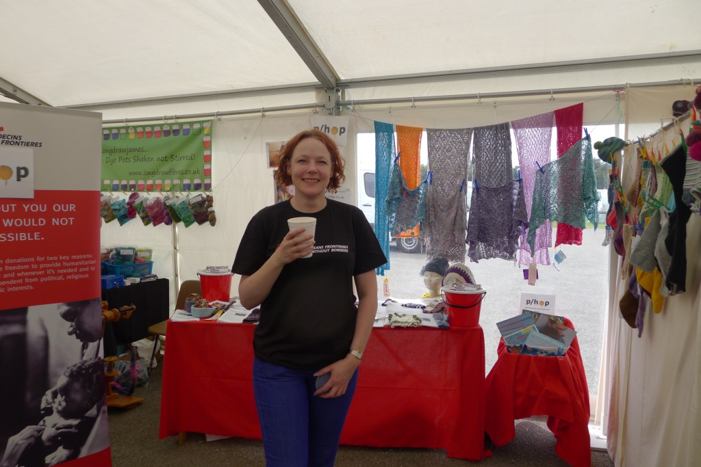 Me (Kate) standing proudly in front of my first P/Hop stall