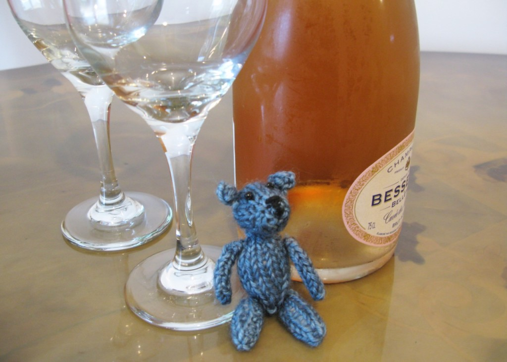teeny ted having a little drink