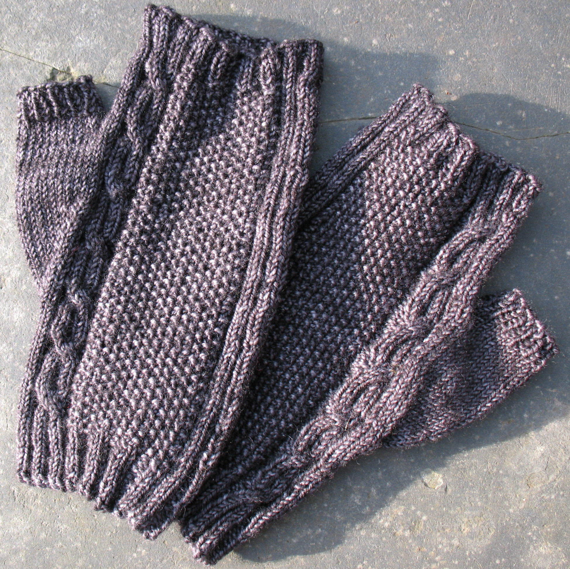 Texture Mitts for Men by Alessandra Parsons